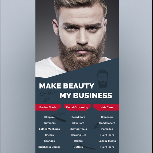 Men Salon Roll Up banner