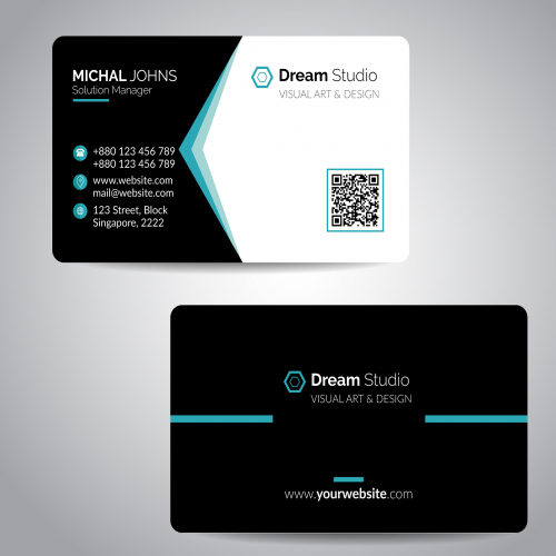 Simple Minimal Business card design
