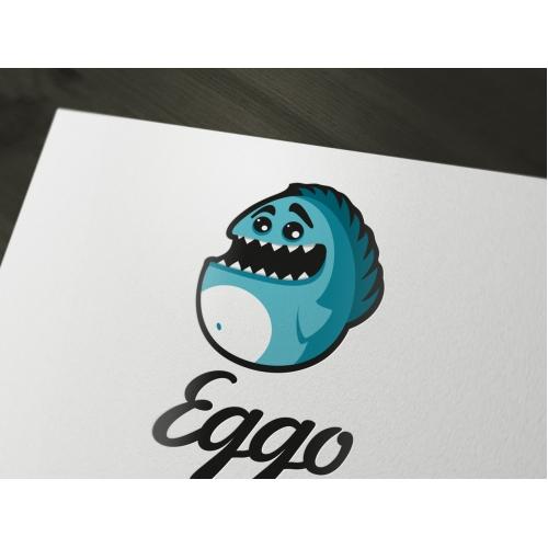 Eggo - a cute and funny monster logo
