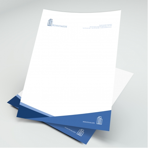 A letterhead design based on a company logo