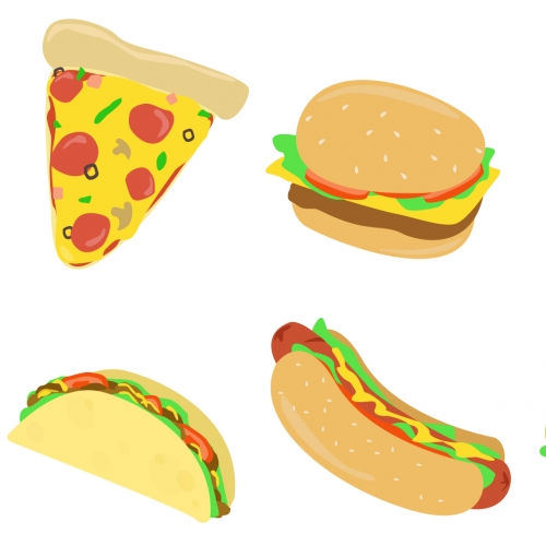 Set of Food vector designs