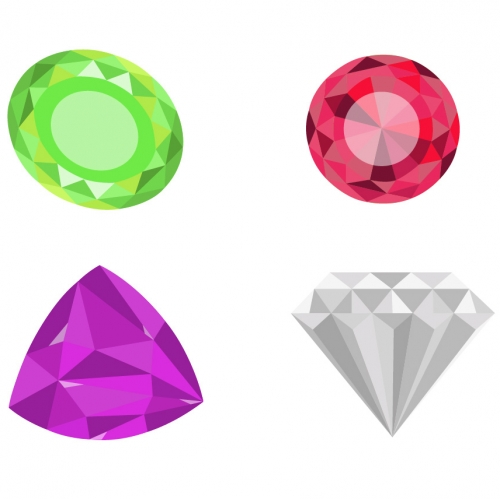 Set of gems vector design