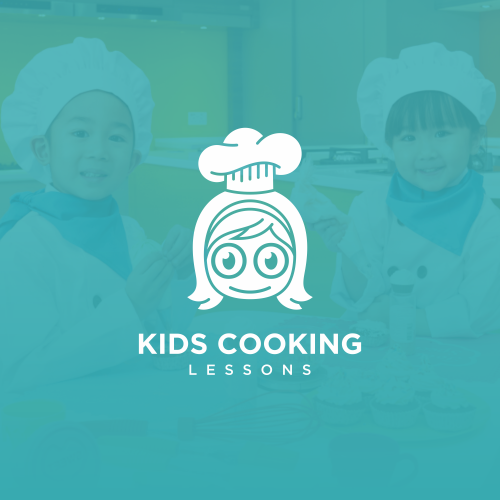 Kids Cooking Lessons Logo Design