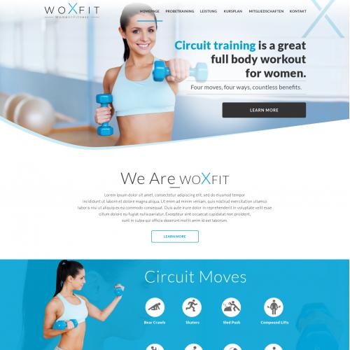 Web design for Women Fitness