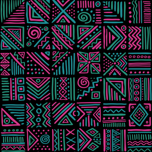 African clash abstract seamless patter