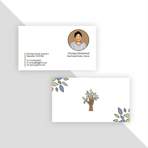 Business card design for boutique real estate broker