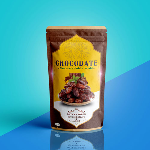 Package design for chocolate and dates