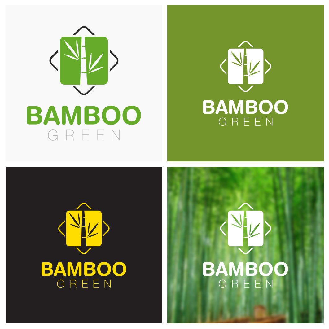 Bamboo Green design logo