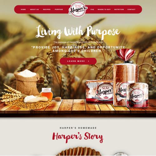 Fast Food website design