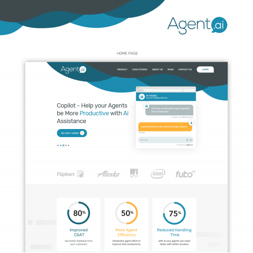 artificial intelligence landing page design