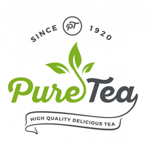 PureTea - high quality delicious tea logo