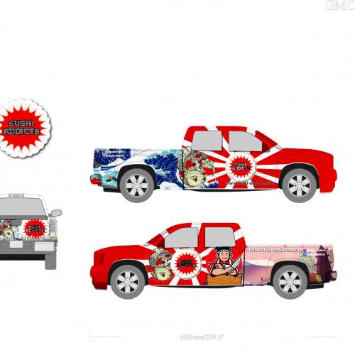 truck wrap for fastfood restaurent