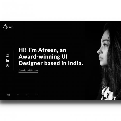 Afreen\'s Portfolio Website