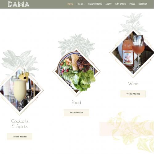 DAMA Restaurant Website