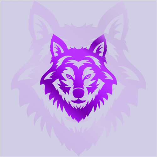 the purple wolf logo