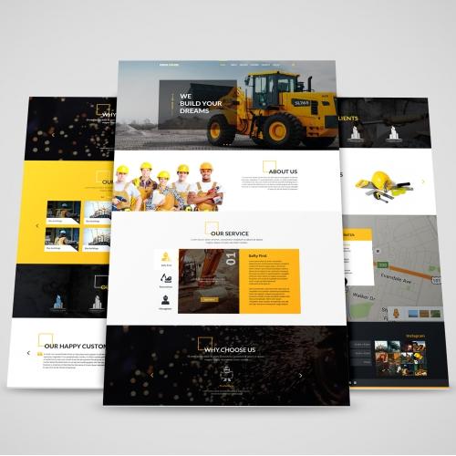 Construction Website Design PSD