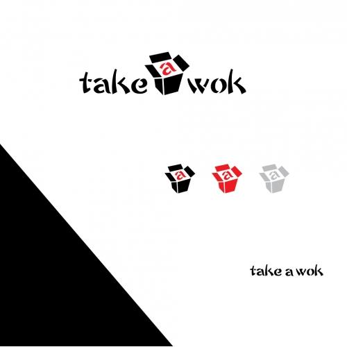 Take a wok logo
