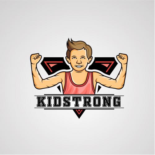 KidStrong Mascot logo Design But Eliminated :(
