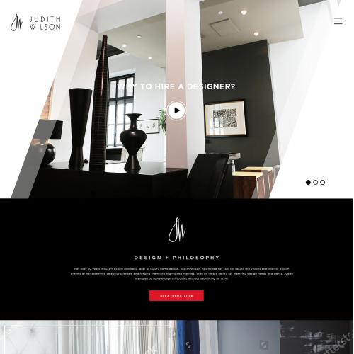 Website redesign for interior design