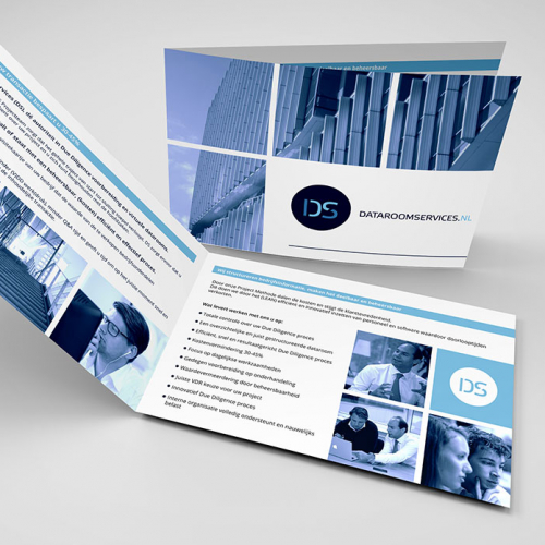 \'Dataroom Services\' Brochure Design