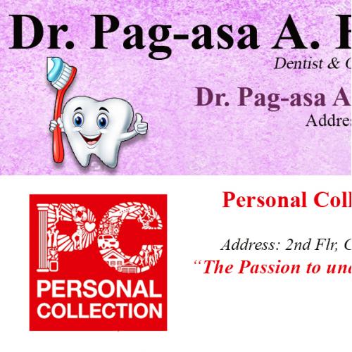 Dr. Pag-asa Calling Card