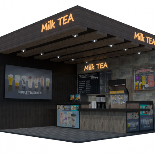 Sample Milk Tea Kiosk Shop