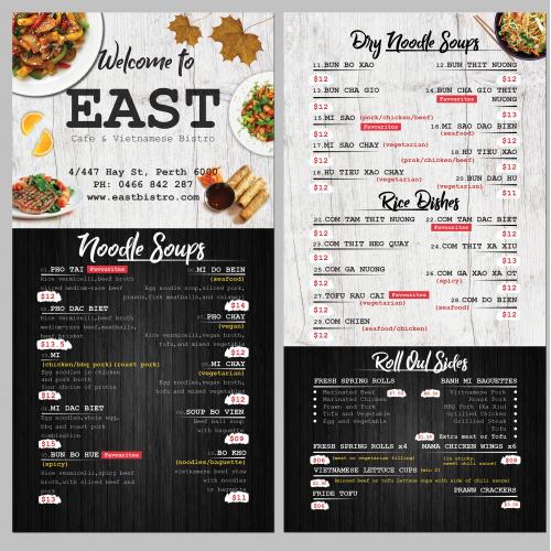 B4 page Menu flyer Design for Restaurant