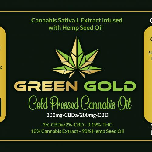 Cannabis oil label design