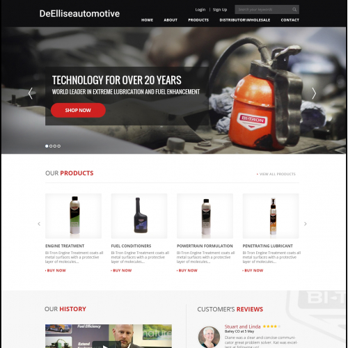 Automotive company website design
