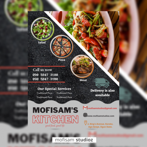 Restaurant Advert e-flyer