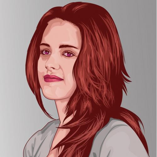Vector illustration of Kristen Stewart
