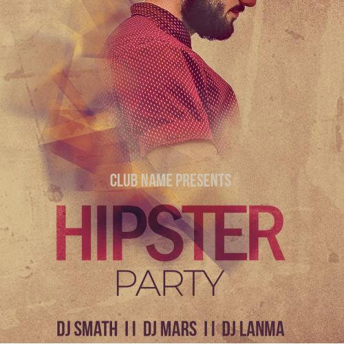 Hipster Party Flyer