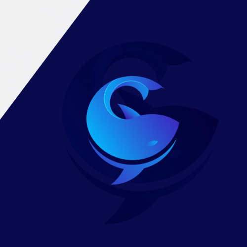Chat Whale logo design