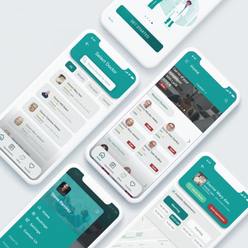Doctor Booking App UI