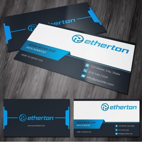 Tech Business Card Design