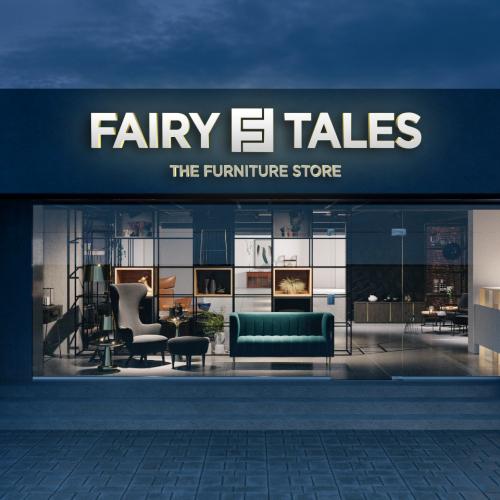 Fairy Tales Display Center Name Board mockup