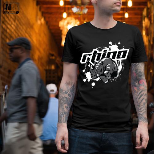 T-shirt design : RHINO