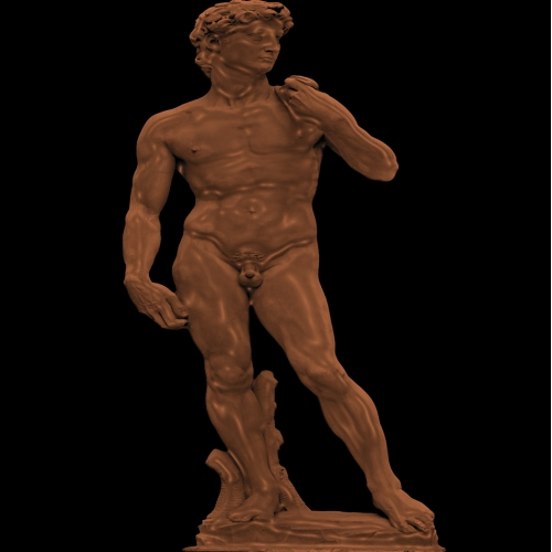 Statue of David Chocolate PhotoManipulation