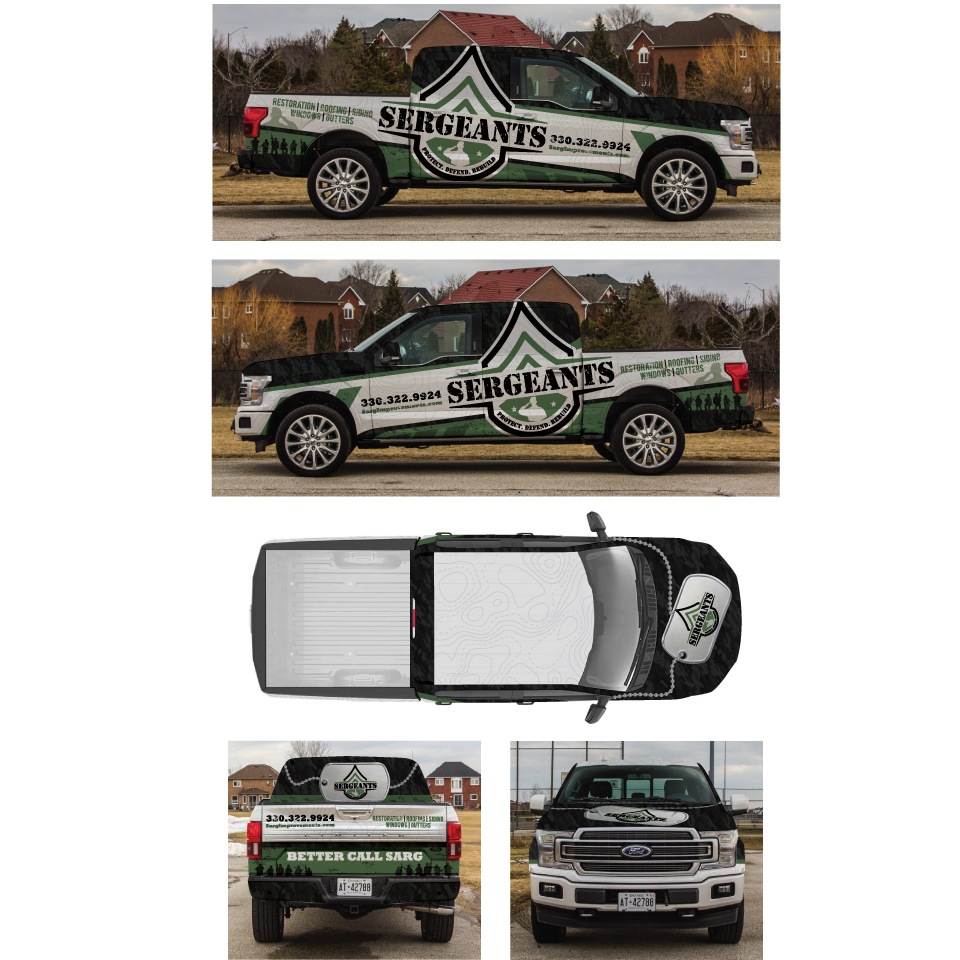 Car, truck or van wrap design