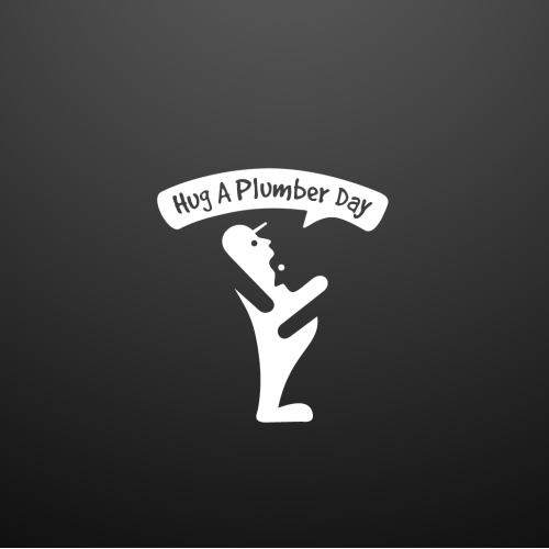 Negative Space Logo For Hug A Plumber Day