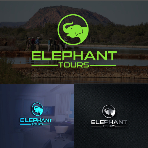 Design a meaningful logo for a unique travel company operating only in africa.