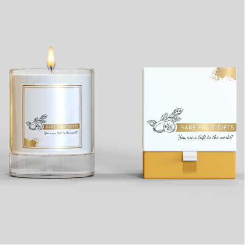 Label and box candle