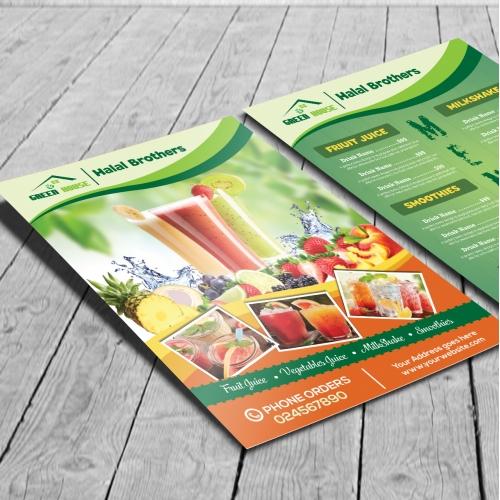 Juice flyer design