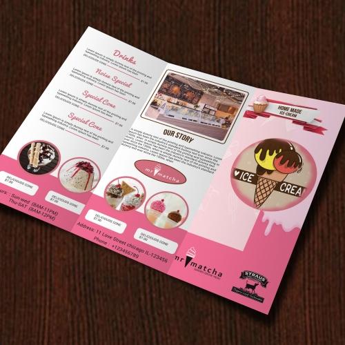 Ice cream menu template design