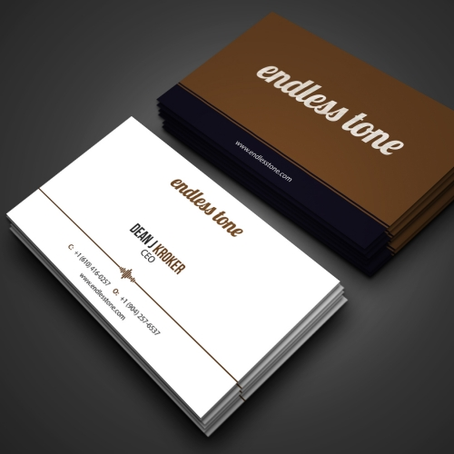Simple and elegant music related business card