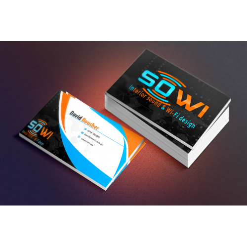 sound / wifi  business card