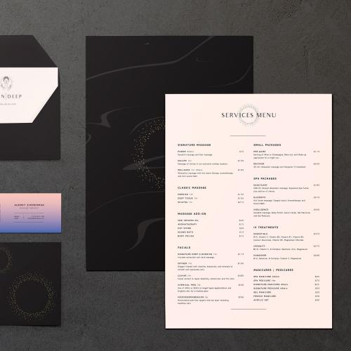 Menu Design Concept