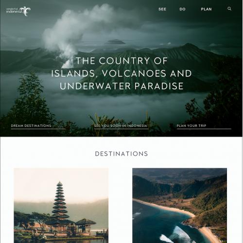Indonesia Travel Web Design Concept