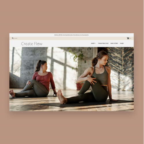 Shopify Store Design for Yoga Mats