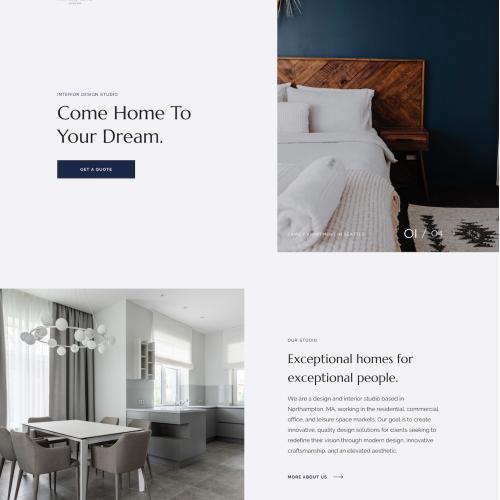 High-End Interior Design Studio Web Design Concept